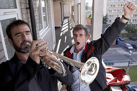 Cantona tests his musical skills in Looking for Eric