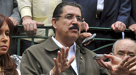 Ousted president Manuel Zelaya