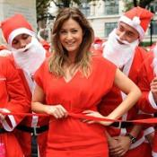 Lisa Snowdon  launched the Santa Fun Run Race in aid of Breast Cancer Care