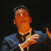 Tony Hadley, of Spandau Ballet, during the first night of their comeback tour