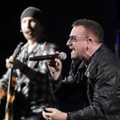 Celeb fans tweet U2 California gig