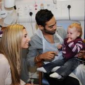 X Factor's Stacey Solomon and Danyl Johnson meet children Great Ormond Street Hospital