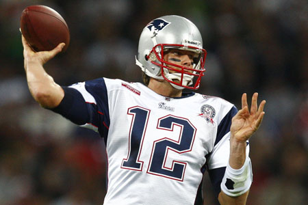 New England Patriots quarterback Tom Brady at  Wembley on Sunday