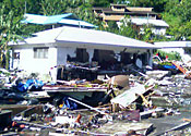The devastation caused by the waves in Samoa last week