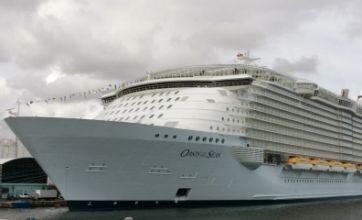 All aboard the world's biggest cruise liner