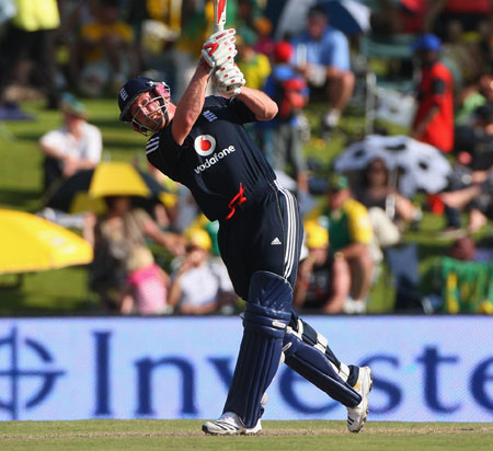 Day to remember: Paul Collingwood hits out on his way to 105