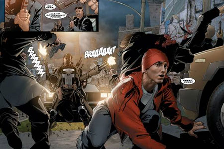 Eminem has featured in comics before with an appearance in The Punisher