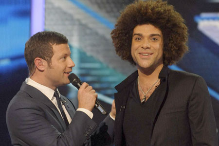 Dermot O'Leary shows Jamie the X-Factor door