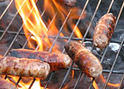 A barbecue, not featuring mammoths