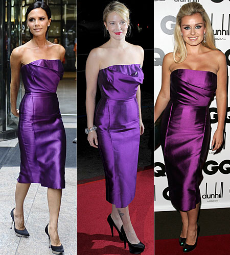 Victoria Beckham, Drew Barrymore and Katherine Jenkins looking glam in the £1,750 Victoria Beckham Giral dress