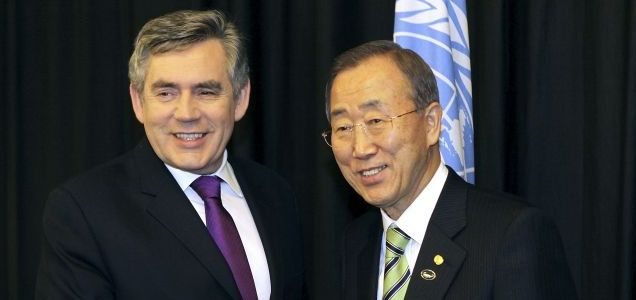 Gordon Brown and Ban Ki-Moon