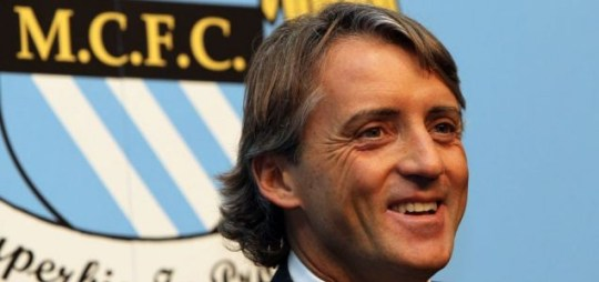 Roberto Mancini is unveiled by Manchester City