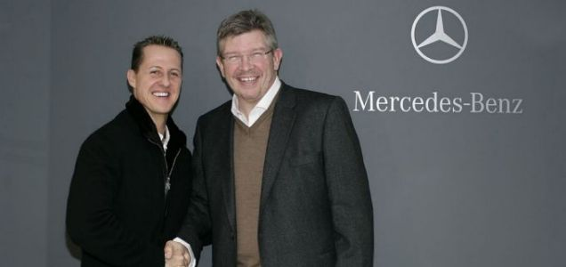 Michael Schumacher and Ross Brawn have a long and happy history of working together