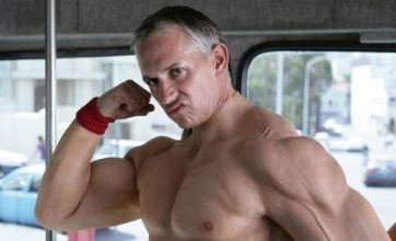 Naked Gary Lineker is all muscle