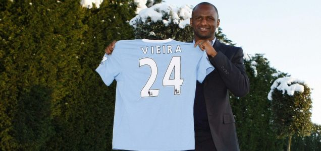Patrick Vieira was Roberto Mancini's first signing for Manchester City
