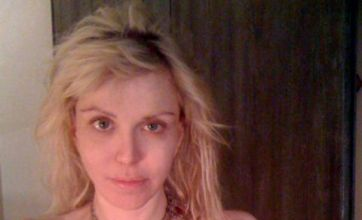 Courtney Love goes topless on Twitter to reveal tattoo flower shock