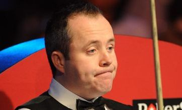 John Higgins crashes out of Masters