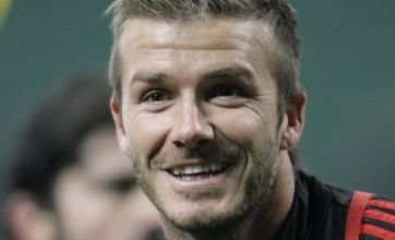 David Beckham plays daddy on Skype