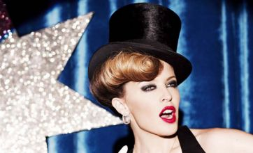 Kylie Minogue sets the stage alight as she promotes new handbag range