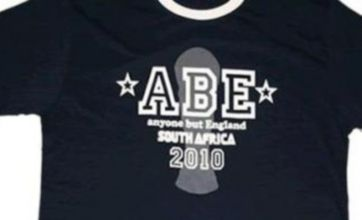 'Anyone But England' World Cup 2010 T-shirts spark racism row