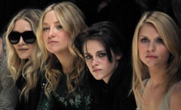 Kristen Stewart, Uma Thurman, and Kate Hudson attend Burberry 3D show