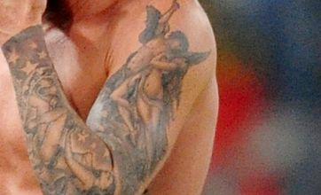 David Beckham uncovers new tattoo of doctored Italian artwork