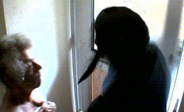 The moment drug addict pulled knife on widow, 90