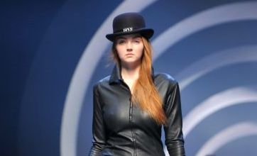Lily Cole goes hell for leather at Paris Fashion Week
