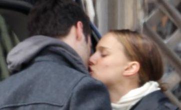 Natalie Portman puckers up to dancer Benjamin Millepied