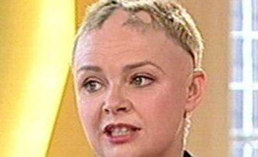 Gail Porter shows off her growing locks