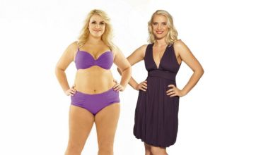 Claire Richards shows off her baby figure and 'is in no rush to lose weight'