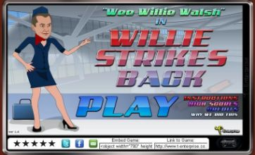 Wee Willie Walsh 2: Willie Strikes Back BA game takes off
