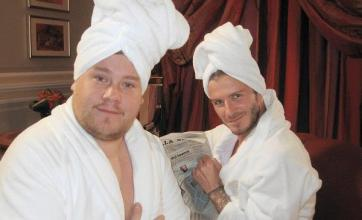 Smithy and Becks enjoy pamper time