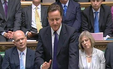 David Cameron rounds on Gordon Brown's spending policies at PMQs