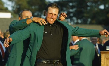Tearful Phil Mickelson hails 'incredible' Masters hat-trick