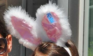 Katie Holmes takes her bunny little girl Suri Cruise shopping