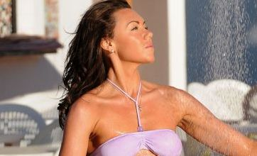 Michelle Heaton shows off her new lean body