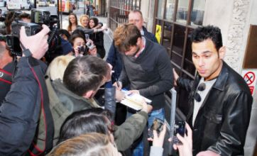 Gossip Girl's Chace Crawford is mobbed outside Radio 1 studios