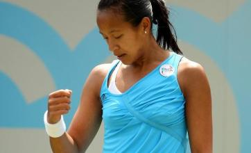 Keothavong suffers first-round KO