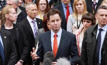 Clegg considers Tory/Labour offers