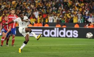 Asamoah Gyan scores Ghana's decisive penalty (PA)