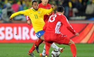 Robinho received close attention from North Korea (PA)
