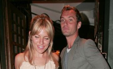 Jude Law and Sienna Miller enjoy cosy dinner date