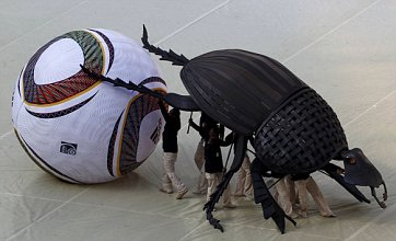 World Cup opening ceremony features giant dung beetle and more vuvuzelas