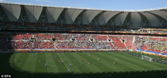 The Nelson Mandela Bay Stadium in Port Elizabeth was half-empty for South Korea v Greece