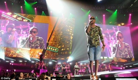 N.E.R.D's Pharrell Williams performs at the star-studded Activision E3 2010 preview