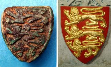 Medieval three lions badge found in Coventry