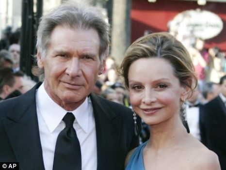 Third time lucky: Ford and Flockhart have had a long courtship Picture: AP