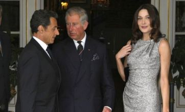 Sarkozy and Bruni meet Charles and Cameron to mark de Gaulle broadcast anniversary