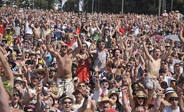 Glastonbury 2010: Festival revellers break to watch England v Slovenia